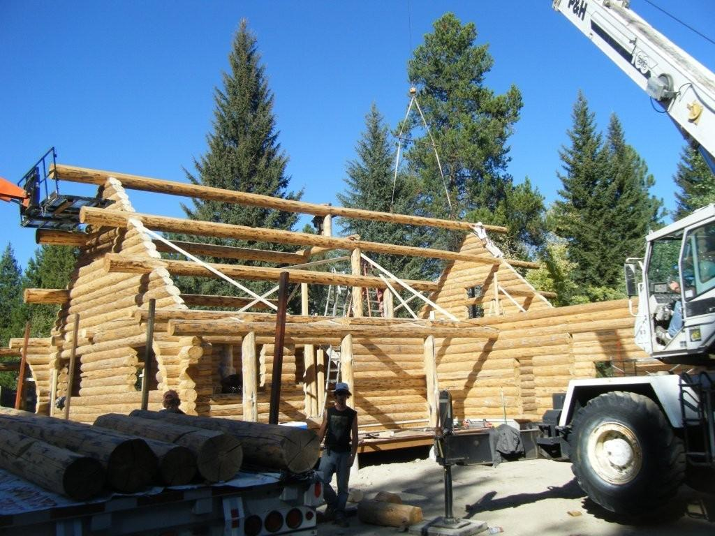 Setting the roof purlins