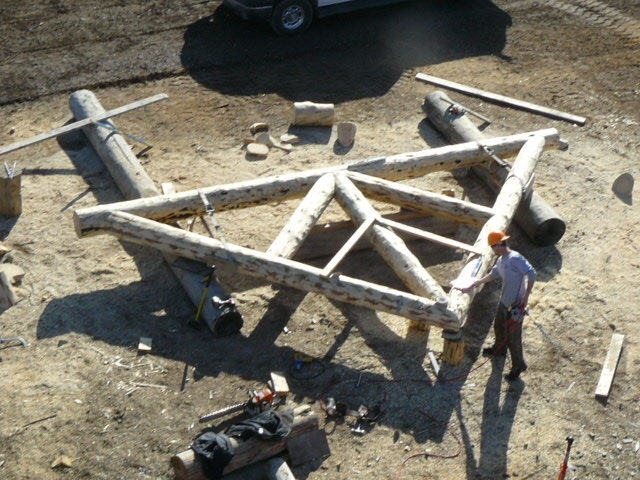 Log Truss for great room