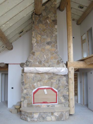 Fireplace ready for finish