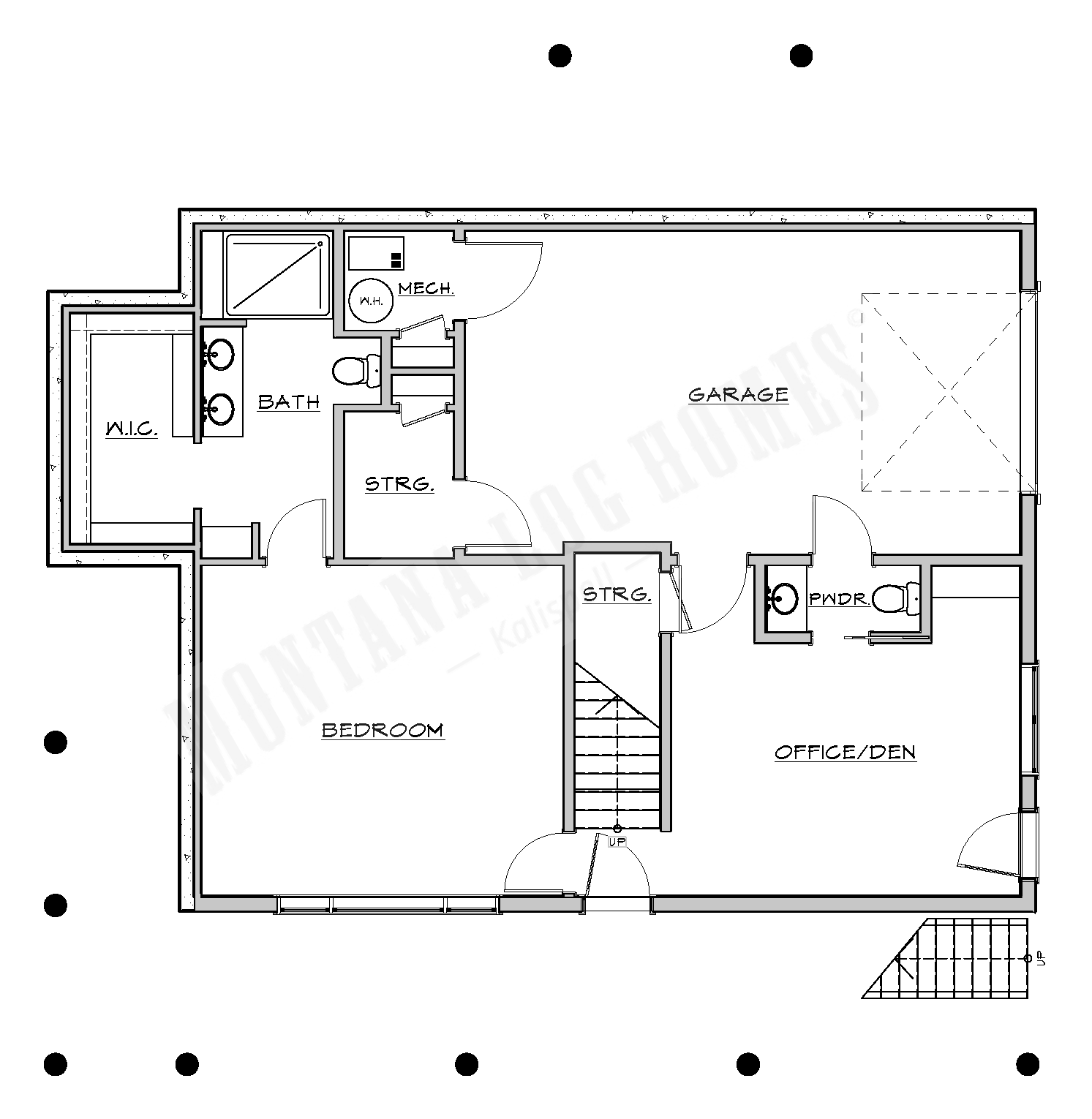 a floorplan of a log home