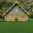 Exterior log home rendering