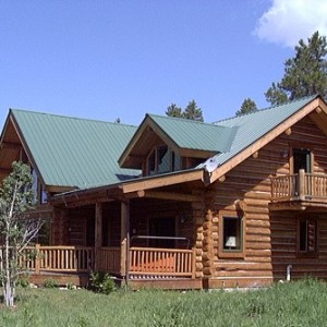 Chink Style log home exterior