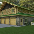 exterior log cabin over garage