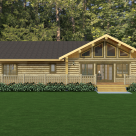 Custom log home rendering