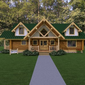 Log home rendering